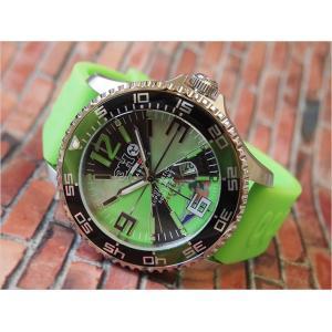 トレアッカ イタリア 3H ITALIA 腕時計 M1.VERDE メンズ ラバーベルト 替ベルト付き|ippin