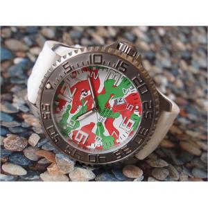 トレアッカ イタリア 3H ITALIA 腕時計 TC02 メンズ ラバーベルト 替ベルト付き|ippin