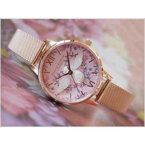 オリビアバートン OLIVIA BURTON 腕時計 OB16AM166 レディース メッシュメタルベルト ippin
