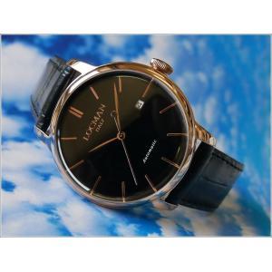ロックマン LOCMAN 腕時計 0255R01R-RRBKRGPK 1960 AUTOMATIC レザーベルト ippin