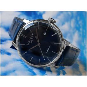 ロックマン LOCMAN 腕時計 0255A02-PBLJ 1960 AUTOMATIC レザーベルト 武田双雲コラボモデル|ippin