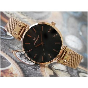 モックバーグ MOCKBERG 腕時計 MO308 Lily Noir レディース クォーツ メッシュメタルベルト|ippin