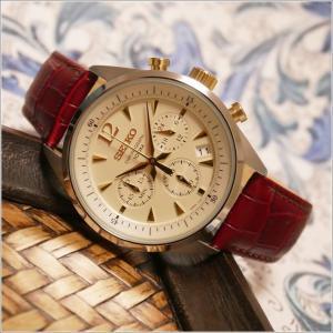 セイコー SEIKO 腕時計 SSB069J1 メンズ レザーベルト クロノグラフ 100m防水 クォーツ (Cal 6T63)|ippin
