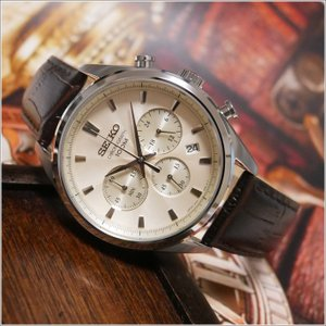 セイコー SEIKO 腕時計 SSB293J1 メンズ レザーベルト クロノグラフ 100m防水 クォーツ (Cal 8T63)|ippin