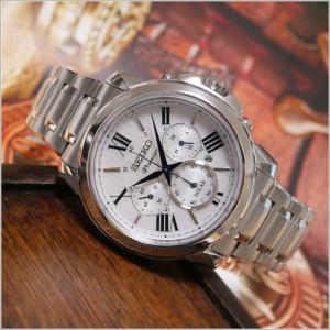 セイコー SEIKO 腕時計 SSC595J1 メンズ メタルベルト プルミエ クロノグラフ ソーラー (Cal V175)|ippin