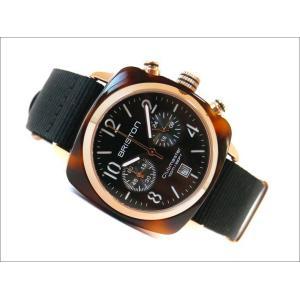 ブリストン BRISTON 腕時計 410P1NB 40mm 14140.PRA.T.1.NB クラブマスタークラシック アセテート ゴールド クォーツ クロノグラフ (ベルト長さ 245mm)|ippin