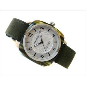 ブリストン BRISTON 腕時計 856S2LA 36mm 18536.SA.GE.2G.LNGA クラブマスターシック フォーエレメンツ アース クォーツ (ベルト長さ 210mm)|ippin