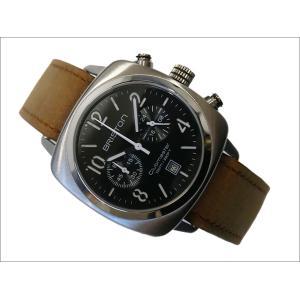 ブリストン BRISTON 腕時計 610S1VO 40mm 16140.S.C.1.LVBR クラブマスタークラシック スチール クォーツ クロノグラフ (ベルト長さ 235mm)|ippin