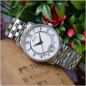 MIDO ミドー 腕時計 M007.207.11.038.00 バロンチェッリ ダイヤモンド 機械式自動巻 メタルベルト レディース|ippin