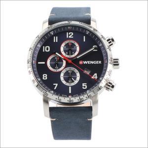 ウェンガー WENGER 腕時計 01.1543.109 アティテュード クロノグラフ レザーベルト メンズ|ippin