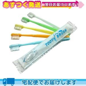 ※※ ホテルアメニティ 使い捨て歯ブラシ 個包装タイプ 業務用 粉付歯ブラシ x1本|ippo0709
