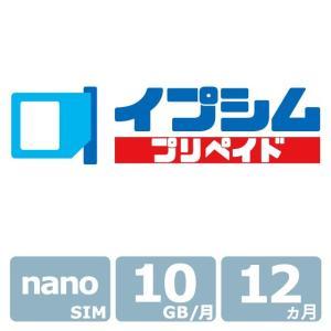 イプシム・プリペイド 固定IPアドレスSIM 容量タイプ 10GB × 12ヵ月 (nano SIM) ipsim