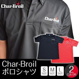 ポロシャツ 半袖 メンズ レディース カジュアル トップス ポケット ボタンダウン 黒 赤 吸汗速乾 UVカット チャーブロイル アウトドア|irc-cb