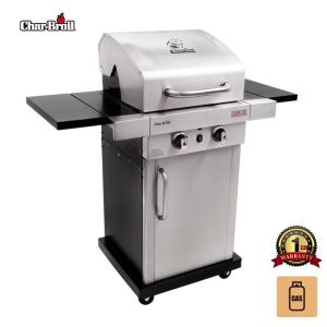 バーベキューコンロ 大型 アメリカ ガス グリル BBQ チャーブロイル 蓋付き LPガス 2バーナー アウトドア 石焼き芋 餅焼き 丸鶏チキン|irc-cb