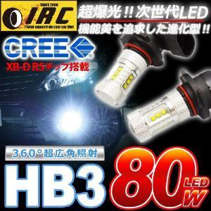 HB3 LED バルブ 80W フォグ ランプ 高輝度 チップ 12V 24V 兼用 2個1セット  CREE製 ホワイト|irc2006jp