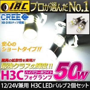H3C LED フォグ バルブ 12V 24V 兼用 白 ホワイト 無極性タイプ 2個セット  トラック バス タンクローリー 積載車|irc2006jp