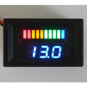12Vバッテリー用電圧計 DX【カラーバー&数値/簡単2線式】