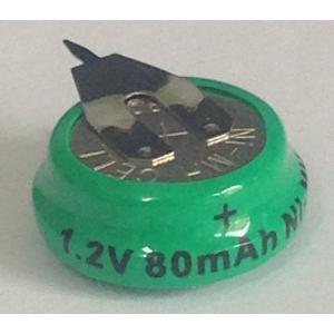 二次電池 1.2V 80mAh NiMH タブ付 【BIOS CMOS バックアップ】