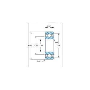 ミネベア ボール・ベアリング DDL-630ZZ ステンレス 3x6x2.5mm|irijon-y