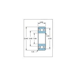 ミネベア ボール・ベアリング DDL-1370ZZ ステンレス 7x13x4mm|irijon-y