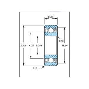 ミネベア ボール・ベアリング DDL-1280ZZ ステンレス 8x12x3.5mm|irijon-y