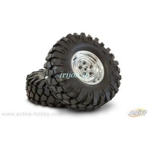 アクティブ STR295C MTタイヤ付1.9ホイールセット 108mm(2本/クローム)