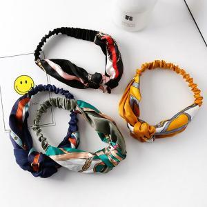 ヘアバンド ターバン クロスヘアーバンド スカーフ柄 おしゃれ 可愛い ヘアアクセサリー 4色 irisblue