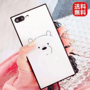 スマホケース スマホカバー iphone7 iphone8 iphoneX しろくま クマ ホワイト かわいい 送料無料 irisblue