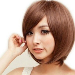 ウィッグ レディース フルウィッグ ショート 自然 前髪 かつら ネット付き 送料無料 irisblue