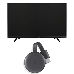 Google Chromecast GA00439-JP チャコールブラック+LUCA 4K対応テレ...