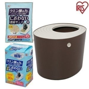 【上から猫トイレ システムタイプ ベージュ/ブラウン PUNT-530S】 ●商品サイズ(cm) 幅...