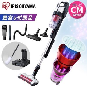 掃除機 コードレス スティッククリーナー アイリスオーヤマ 軽量 充電式 パワーヘッド コンパクト ...