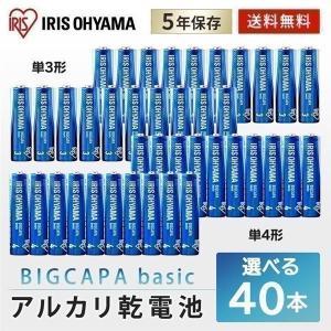 乾電池 単3 40本 単三 電池 BIGCAPA basic 単3形 20本パック×2 LR6Bb/...