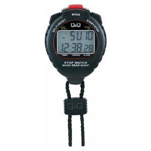 スタンダードなデザインと赤いボタンが特長の多機能ストップウォッチ。 5気圧の防水性と通常計測以外にス...