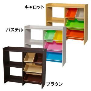 おもちゃ 収納 トイハウスラック 本棚付き おもちゃ箱 おしゃれ ラック 子供 本棚2段 おもちゃ収納3段 (受賞セール)|irisplaza|02
