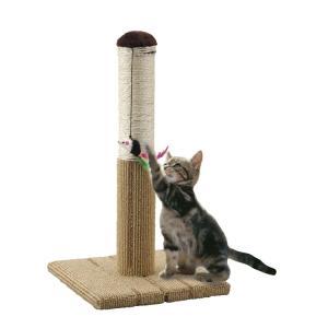 爪とぎ 猫 麻縄 カーペット どこでもツメとぎタワー S ネズミのおもちゃ付き