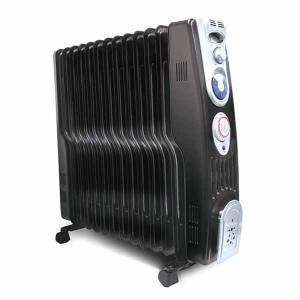 オイルヒーター 暖房器具 S字13枚フィンオイルヒーター ブラック VS-3413BK ベルソス ハンガー付き タオル掛け 洗濯干し 小型
