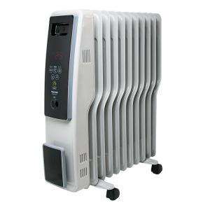 オイルヒーター おしゃれ 電気代 小型 11枚フィン デジタル表示 WH TOH-D1101 TEKNOS 省エネ タイマー付き