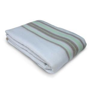 掛敷き毛布 洗える グリーン系 EM-706M TEKNOS 電気毛布 温度調節機能 ダニ退治