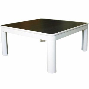 こたつテーブル 正方形 ダイニング 本体 75cmカジュアルコタツ500W WH×木目DBR EKA-700A TEKNOS
