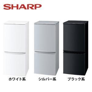 冷蔵庫 2ドア 小型冷蔵庫 SJ-D14B-W シャープ 自...