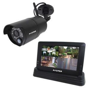 (セール)玄関 防犯グッズ 防犯カメラ 屋外 カラーテレビ モニター&ワイヤレスHDカメラセット WHC7M マスプロ