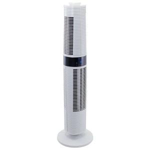タワーファン タワー型扇風機 タワー扇風機 スリム おしゃれ セパレート送風タワーファン 白 MA-776-GY 丸隆|irisplaza