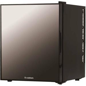 1ドア冷蔵庫 32L ミラーガラスドア ブラック WRH-M...