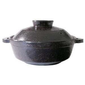 長谷園 優 IH対応 ヘルシー 蒸し 鍋 大(3-5人用) 黒釉 NNC-23 長谷製陶 (D)(B)の商品画像 ナビ
