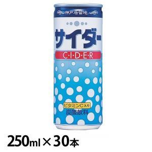 (30本)神戸居留地 サイダー 缶 250ml 富永貿易 (D)|アイリスプラザ PayPayモール店