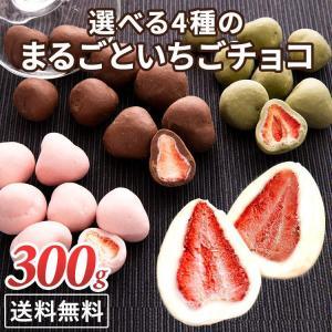 チョコレート チョコ いちご フリーズドライ いちごチョコ いちごチョコレート いちごトリュフ イチゴ ホワイトチョコ まるごといちごチョコ 300g (D)の商品画像|ナビ