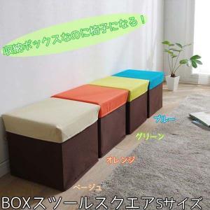 スツール 椅子 収納 おしゃれ 北欧 BOXスツール スクエア Sサイズ BLC-377|irisplaza