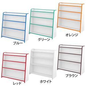 ラック 収納 本棚 書棚 完成品 EVAキッズシリーズ ほん...