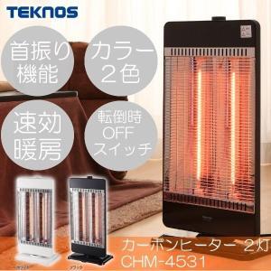 ヒーター ストーブ 暖房器具 トイレ 脱衣所 カーボンヒーター2灯 CHM-4531 TEKNOS